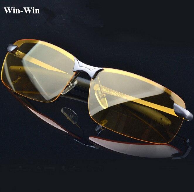 Polarized Sunglasses Night Vision Goggles mens car Driving Glasses Anti-glare Gunmetal/Black Alloy Frame glasses<br><br>Aliexpress