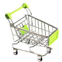 2016 New Mini Supermarket Handcart Shopping Utility Cart Mode Storage Toy green 11*8*12cm(China)