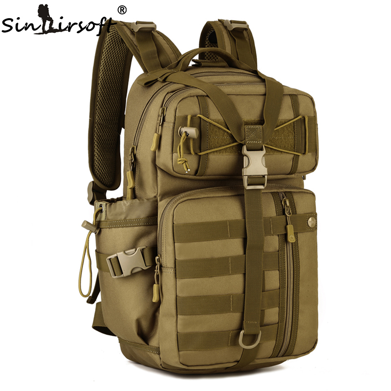 SINAIRSOFT Outdoor Tactical Backpack 900D Waterproof Army Shoulder Military hunting camping Multi-purpose Molle Sport Bag LY0057(China)