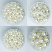 4-20mm Pearl Cabochon Round White Ivoy Pearl Imitation ABS Beads Jewelry Findings DIY Phone Case High Quality(China)