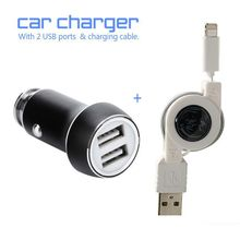 Car Charger Metal Casing Dual USB Ports Fast Charging Universal Game Accessories For IOS Smartphones & Tablets(China)