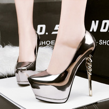 party shoes gold pumps wedding shoes women pump extreme high heels black platform shoes silver heels women shoes heels C065