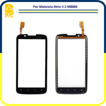 10pcs Phone Parts 4.3'' Touchscreen Panel Digitizer Front Glass Lens Sensor Touch Screen For Motorola Atrix II 2 MB865
