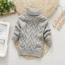 2015 Hot Sale Baby Boys Girls Sweater Childrens Kids Unisex Winter Autumn Pullovers Knitting Turtleneck Warm Outerwear Sweaters(China)
