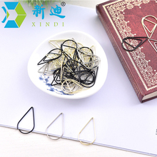 10 Pcs/Bag Korean Stationery Creative Metal Teardrop-shaped Bookmark Paper Clip Cute ClipS Office Supplies Accessories