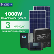 China manufacture home solar power system off grid 1000W solar lightingsystem for home lighting with battery