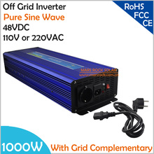1000W DC48V AC110V/220V, Off Grid Pure Sine Wave Solar or Wind  Inverter, City Electricity Complementary Power Inverter