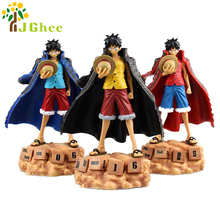 One Piece Monkey D Luffy Eternal Calendar Anime PVC Action Figure Collectible Model Toys 3 colors