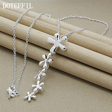 DOTEFFIL High Quality Sterling Silver Pendant Necklace Woman Long Necklace Woman Luxury Statement Factory Outlet