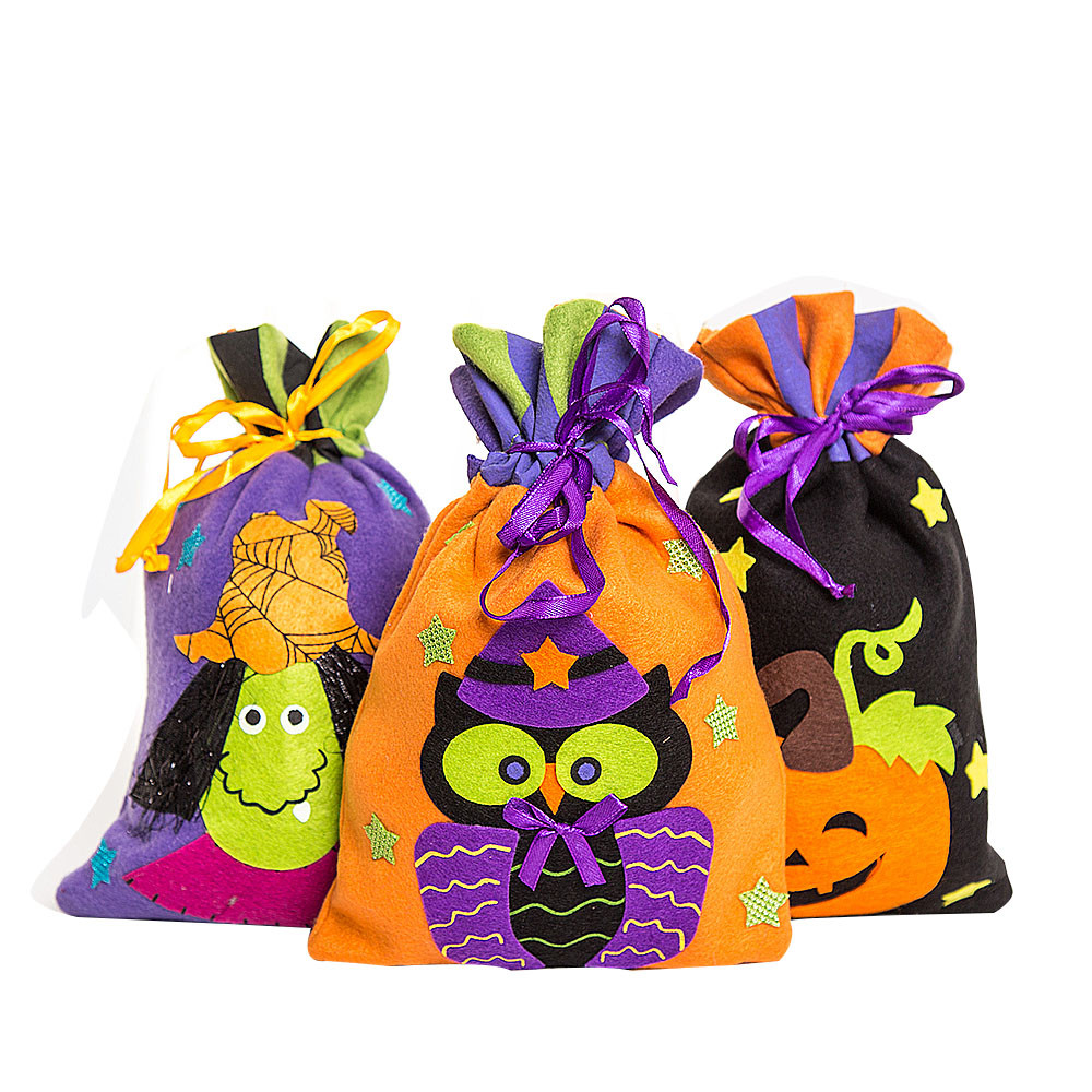 Halloween Cute Witches Candy Bag Packaging Children Party Storage Bag Gift lovely halloween decor Adorable candy jar for kids(China (Mainland))