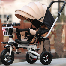 Hot Sale 2017 New Children's three-wheeled bike Can sit and sleep can sleep Two-way kid's bicycle(China)