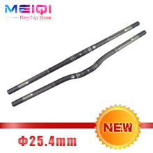 DODICI New 25.4 Bicycle Handlebar Full Carbon Fiber Mountain Bike MTB Handlebar Flat Bar For Folding BMX Handlebars Bicycle Part