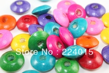 Free Shipping200/14x6mm Mixed Dyed Abacus Wood Spacer Beads Child String Bead  For Jewelry Necklace /Bracelet Accessry