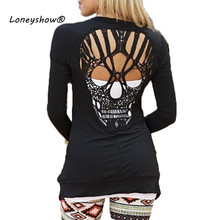 Skull Hollow Out Women Sweaters Knitted Long Sleeve Cardigans Spring Summer Thin Cardigans Sexy Blusas Mujer Plus Size(China)