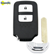 Replacement Shell Smart Remote Key Case Fob 2 Button for Honda Accord CRV Fit with small key(China)