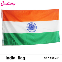 INDIA FLAG INDIAN COUNTRY FLAGS NEW BANNER Polyester Banner Flying150* 90cm outdoor