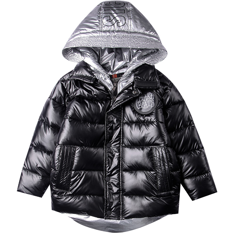 Boys Winter Down Jacket Kids Solid Down Coat Girls Hooded Warm White Duck Down Jacket Kids Clothing