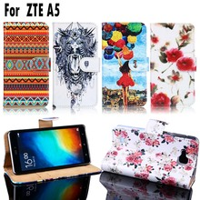 PU Leather Cell Phone Cases For ZTE Blade A5 A5 pro Housing Covers AF 3 C341 T221 Bags Shell For ZTE Blade A5 Pro A3 Case Cover