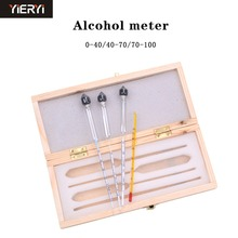 yieryi Alcohol Meter Alcoholometers Wine Meter Measuring Alcohol Concentration Meter Whisky Vodka Bar Set Tool(China)