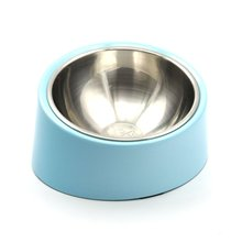 SuperDesign Detachable Stainless Steel Pet Food Bowl with 15 Degree Inclined Melamine Stand Stable Safe for Dogs and Cats(China)