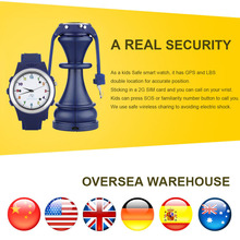 TOP Watch Anti Lost GPS Tracker Watch For Kids SOS Emergency GSM Smart Mobile Phone App For IOS & Android Smartwatch Wristband