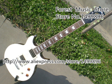 Top Selling 22 Frets LP Standard Model Electric Guitar With Double Cutaway White Guitar Body Free Shipping(China)