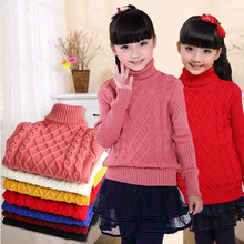 Baby Sweaters For Girl Children Clothing Turtleneck Cotton Knitwear Boys Cardigan New Year Costumes Toddler Teenage Tops 18M-14Y(China)