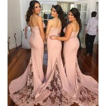 2017 Peach Bridesmaids Dresses Spaghetti Straps Mermaid Maid Of Honor Gowns Cheap Free Shipping Robe De Fille D'Honneur