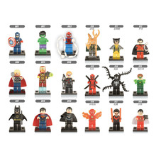 18pcs The Avengers Marvel DC Super Heroes Series Assembling Action Mini figures Toys compatible with legoe Kids Birthday Gift