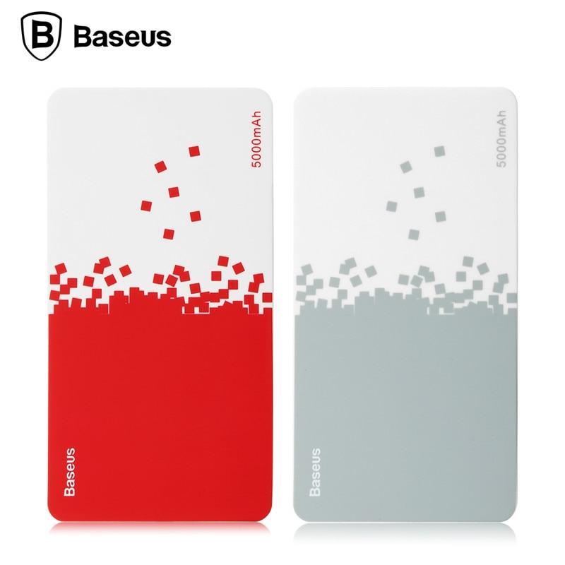 BASEUS 5000mAh Power Bank 5V  Cloud Core Series Portable Ultra Slim  Universal External Battery Powerbank for Smart Phones
