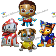 New 1pcs Ryder Chase Marshall Rubble Balloon Birthday Party Decorations Dog Patrol Balloon Toys For Kids Animal Balloon