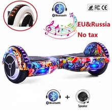 Buy Hoverboard 6.5inch Electric Scooter Bluetooth Overboard Smart Balance Two Wheel Self Balancing Scooter Skateboard LED Light for $184.97 in AliExpress store