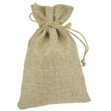JLB wholesale 3000pcs 8.5x11.5cm Promotional Jute Burlap drawstring Favor Bags for candles handmade soap wedding