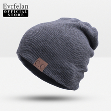 Evrfelan 2017 brand crochet warm winter hat unisex skullies beanies hats for women & men winter cap girls hat female bonnet