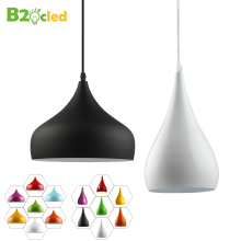 Modern fashion simple led pendant light lamp aluminum hanging room lamp for dining room with led light bulb 5w free shipping