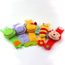 1PC Baby Plush Wrist Strap Rattles Toys Children Infant Newborn Soft Animal Toy  0-12 Months Baby Rattles & Mobiles