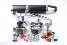 Chinese Scooter 150cc 180cc Big Bore 61mm GY6 A9 Cam, Racing CDI & Coil exhaust pipe 5 colors optional(China)