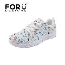 FORUDESIGNS de 3D enfermera Casual zapatos de mujer de marca pisos  zapatillas de deporte cómodos de 977ac816304d