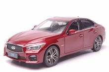 1:18 Diecast Model for Infiniti Q50 2014 Red Alloy Toy Car Nissan Skyline 350GT(China)