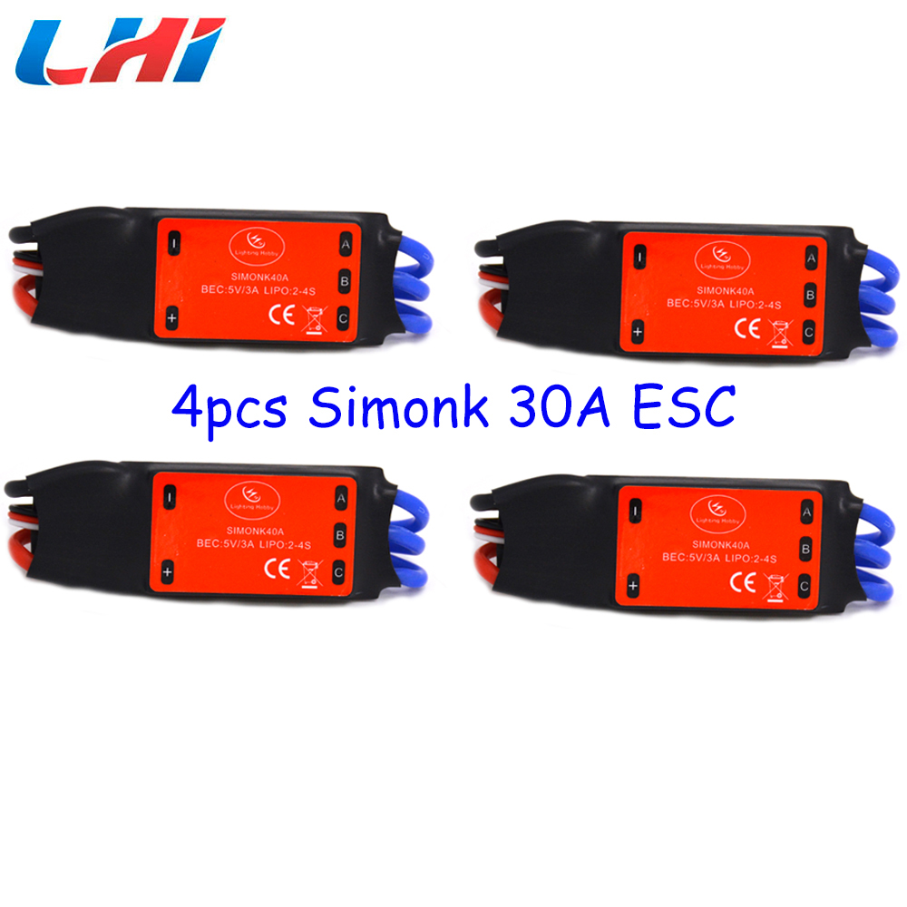 Rc quadcopter Simonk 40A 2-4S Brushless ESC Speed Control for Multicopter<br>