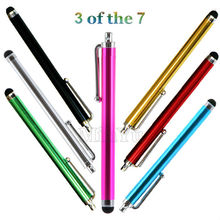 3Pcs Capacitive Stylus / Styli Pen Touch Screen PDAs Tablet Pen for iPhone Samsung HTC LG Sony Google Phones & Tablets