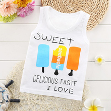 2017 Cheap Price Children T shirt for Boys&Girl Clothing  Kids Summer Tops sleeveless Shirt Cotton Vest Kids Clothes 241