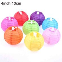 50pcs 4'' 10cm Chinese Handcrafts Paper Lanterns For Celebration Party Decoration Paper Ball DIY Lantern Lampion For Outdoor(China)