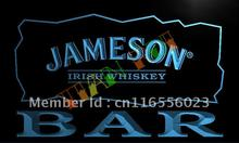 LA696- BAR Jameson Irish Whiskey LED Neon Light Sign