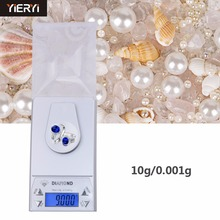 yieryi 100% New Brand 0.001/ 10g 0.001g-10g LCD Digital Jewelry Diamond Pocket Waage Scale Gem Weight Arrive(China)
