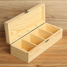 Tea Storage Vintage Multifunctional 4 Compartments Wooden Storage Box Tea Organizer Bag Jewelry Accessories Storage Container