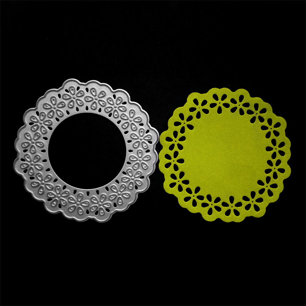 Lace Round Circle Craft Dies Scrapbooking Metal Cutting Dies Stamps Embossing New Paper Background Card Making Home Decor
