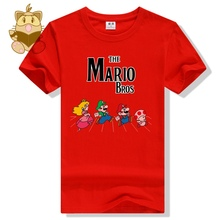 Classic game Super mario bros character MARIO LUIGI todd Peach game t shirt MARIO fans t shirts various colors cotton ac465
