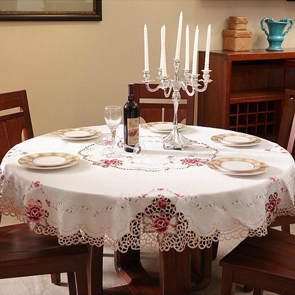 Compra manteles para mesas redondas online al por mayor de for Manteles mesas grandes