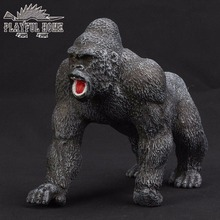 Handmade Certified Goods King Kong Model Soft PVC Sruffed 3D Anime Animals Action Figures Orang Kid Figma Toy For Children Gift(China)